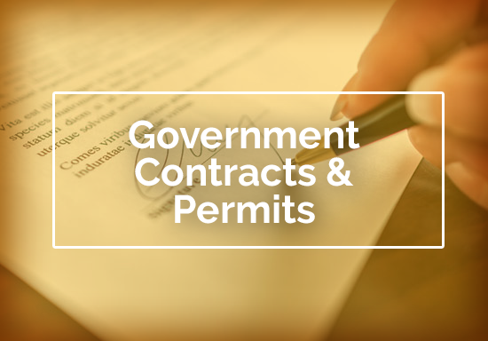 Government Contracts and Permits
