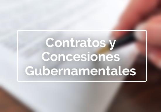 Contratos y Concesiones Gubernamentales